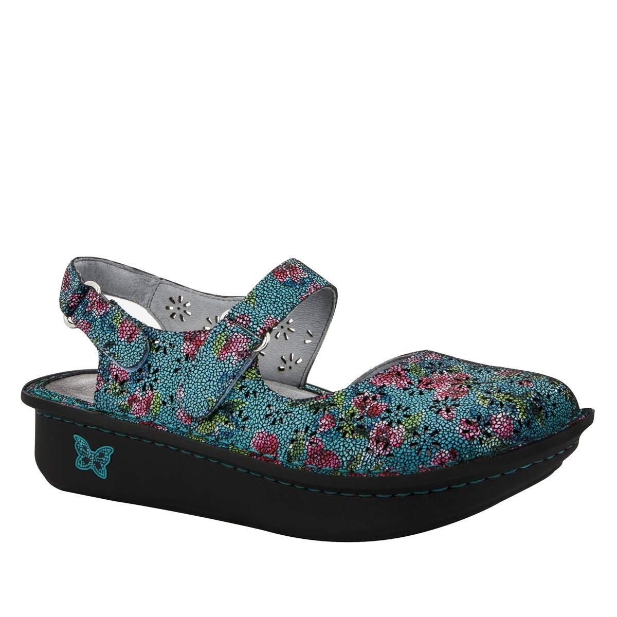 Alegria Shoes Jemma Aqua Flora Sandal FREE Shipping!