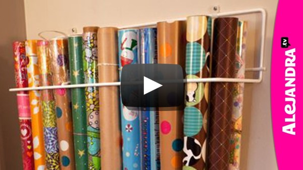 How to Organize Store Wrapping Paper