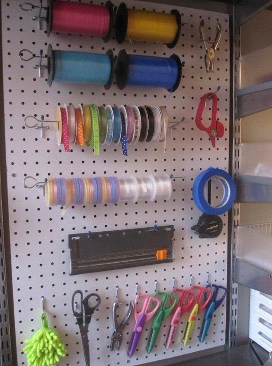 Using A Pegboard For Organizing