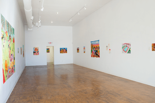 Installation view - I'm a lost soul but I like this place - Mayeur Projects, Las Vegas, NM, US