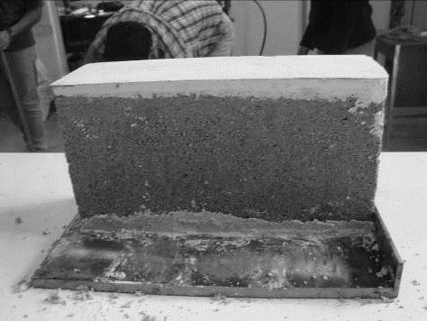 Especímenes cabeceados con mortero de yeso