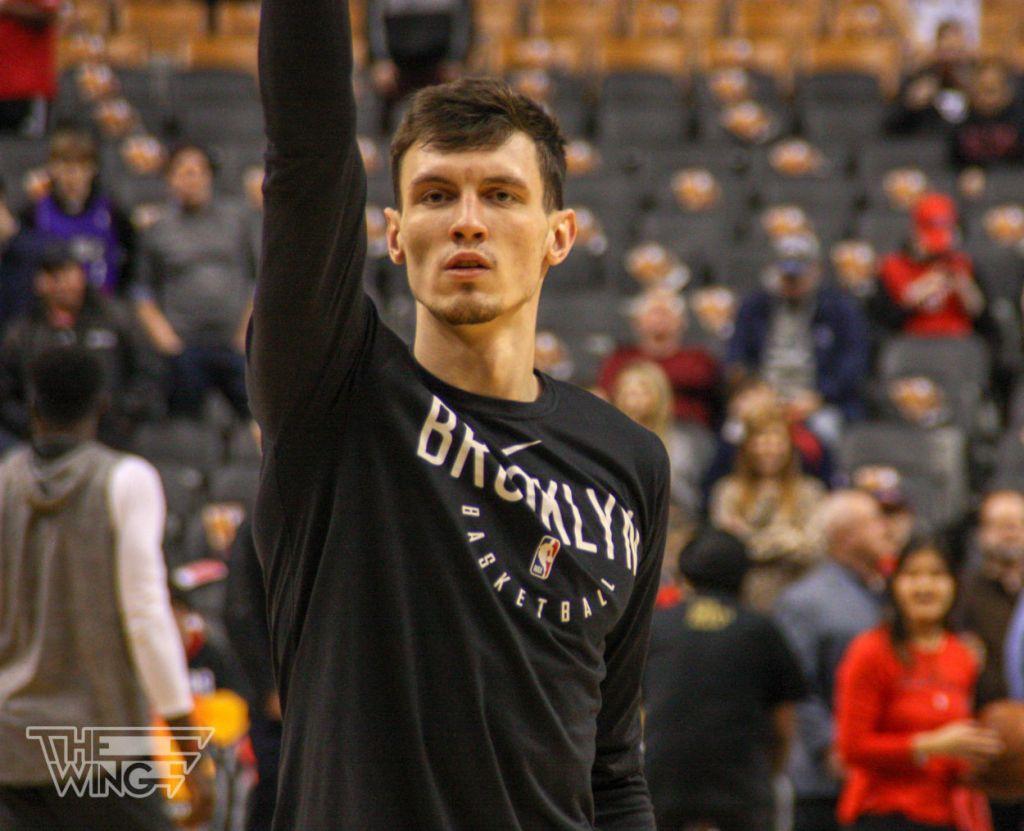 Rodions Kurucs entrenando en el Scotiabank Arena | Alejandro Gaitán