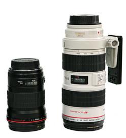 canon 70-200L y canon 135L