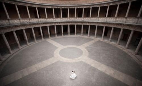fotos de comunión en la Alhambra