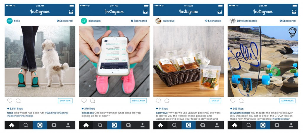 Nuevos call-to-action de Instagram