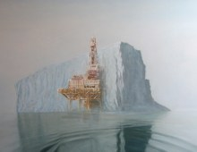 offshore iceberg – oil on canvas