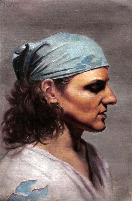 tina, oil painting