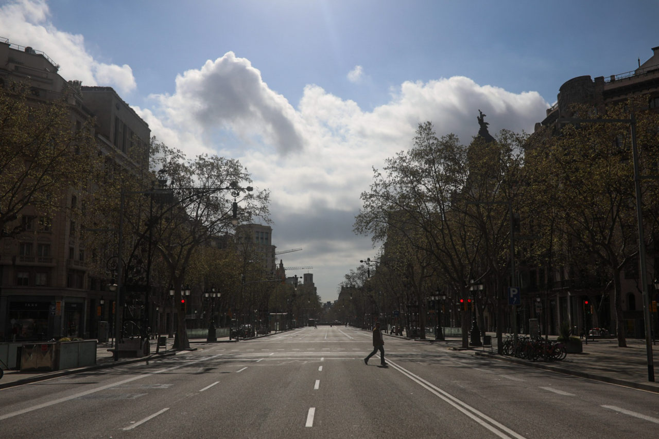 street empty barcelona