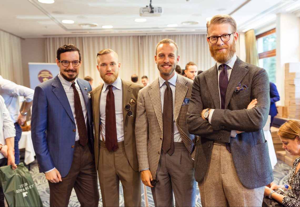 "3 of the best dressed gentlemen in Sweden during the Shoegazing Super Trunk Show, Thomas ""The Bespoke Shop"", Andreas and Olof. Photo: Milad Abedi www.miladabedi.com"