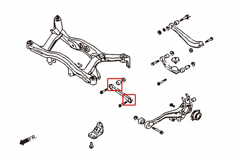 HARDRACE 6842F REAR FRONT LATERAL ARM BUSHING SUBARU