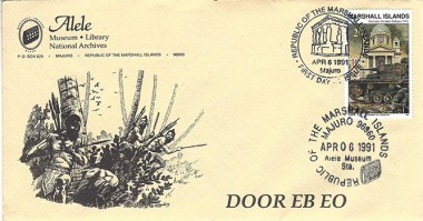 Alele Postal Sub-Station First Day Cover - Door Eb Eo - Apr 6 1991
