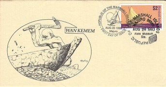 Alele Postal Sub-Station First Day Cover - Wan Kemem