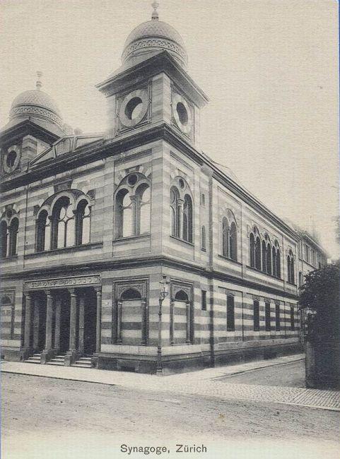 Die Synagoge der Israelitischen Cultusgemeinde in Zrich
