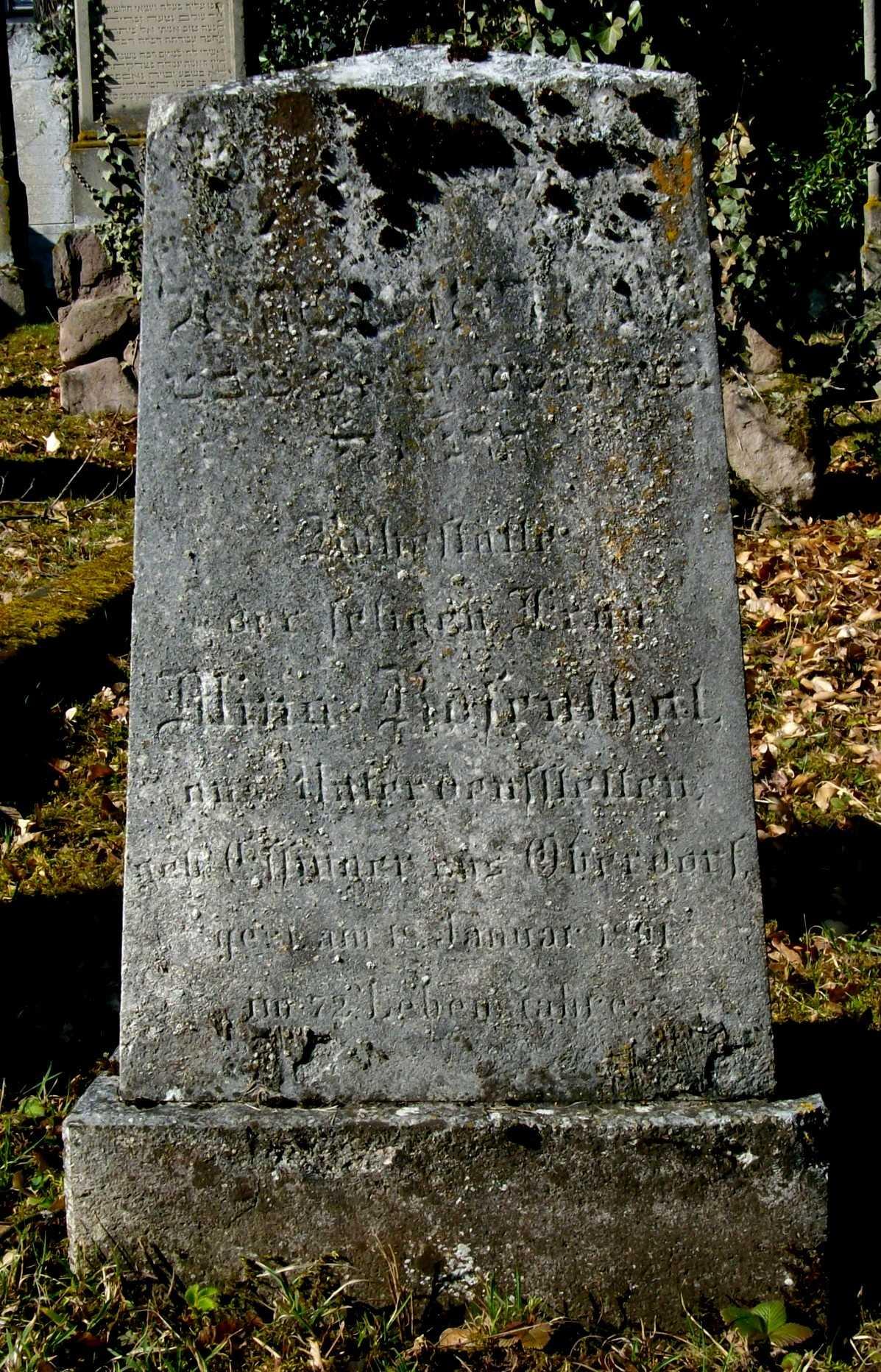 Der Jüdische Friedhof In Pflaumloch (Gemeinde Riesbürg, Ostalbkreis)
