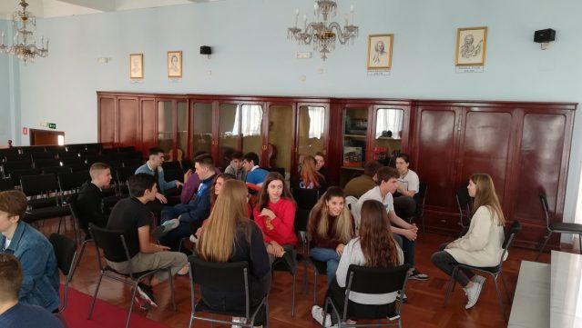 Actividad con el Instituto Graf-Stauffenberg-Gymnasium de Flörsheim en el Meno