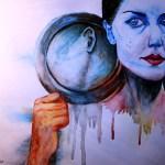 Žena se zrcadlem
