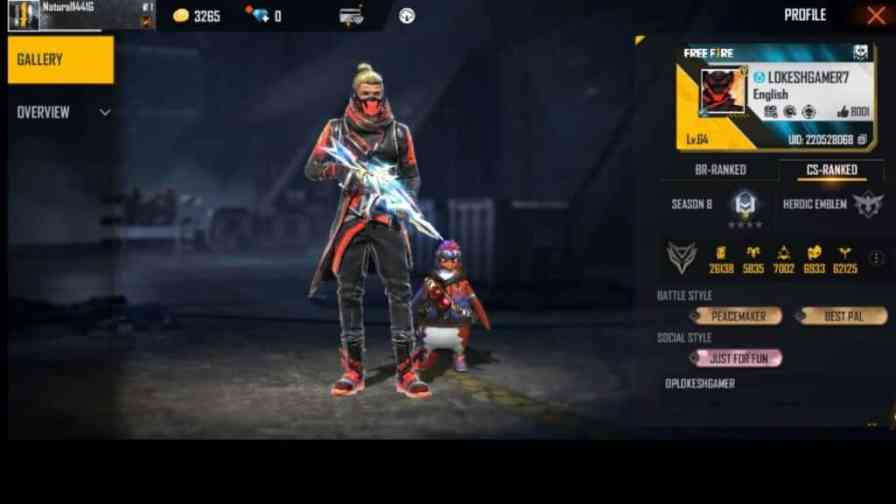 Lokesh gamer free fire id