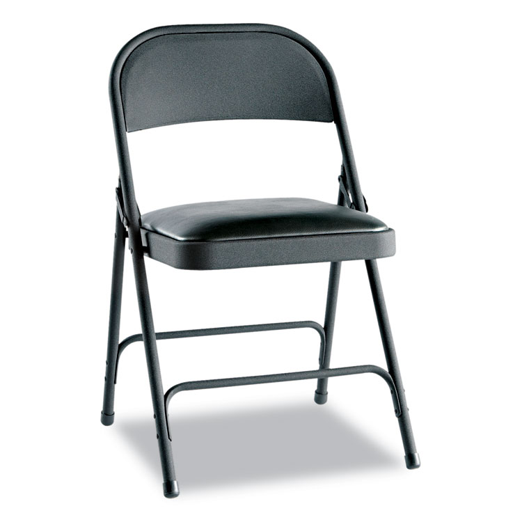 Alera Steel Folding Chair with TwoBrace Support Padded