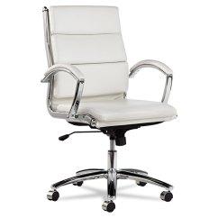 Office Chair Comfort Accessories Best Massage Alera Neratoli Mid Back Swivel Tilt White Faux Leather 125475