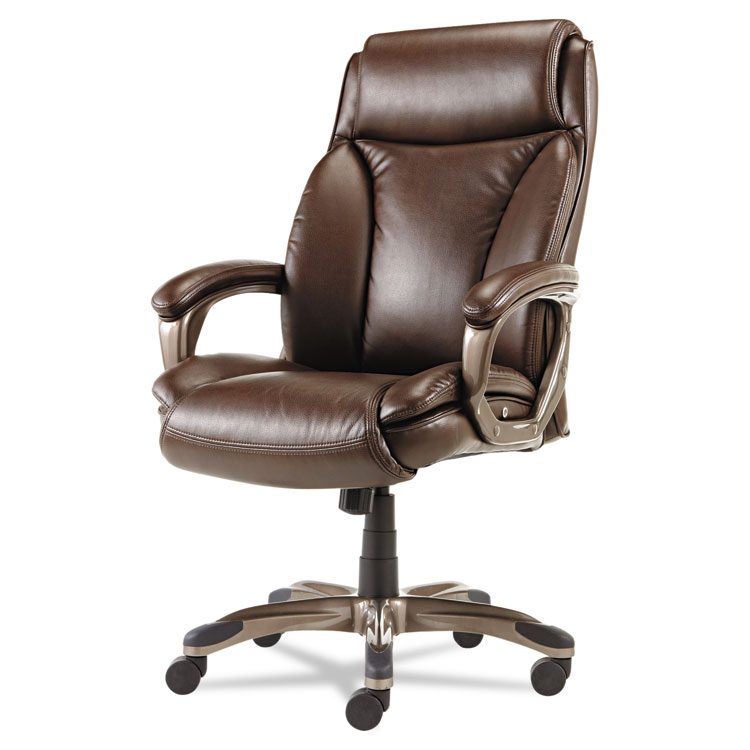 alera office chairs rocking adirondack veon series executive high back leather chair w coil spring cushioning brown details