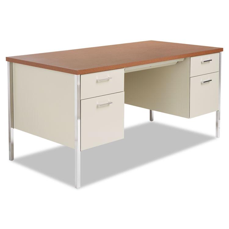 Alera Double Pedestal Steel Desk Metal Desk 60w x 30d x
