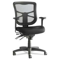 Alera Elusion Series Mesh Mid Back Multifunction Chair Replica Eames Black Details