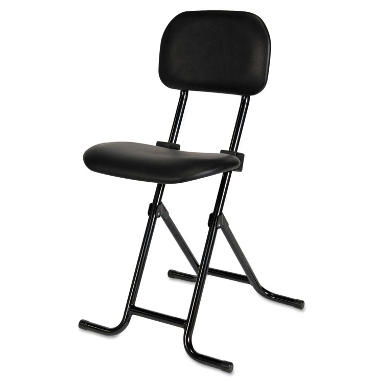 adjustable height chairs non slip office chair mat alera plus il series folding stool black 175673