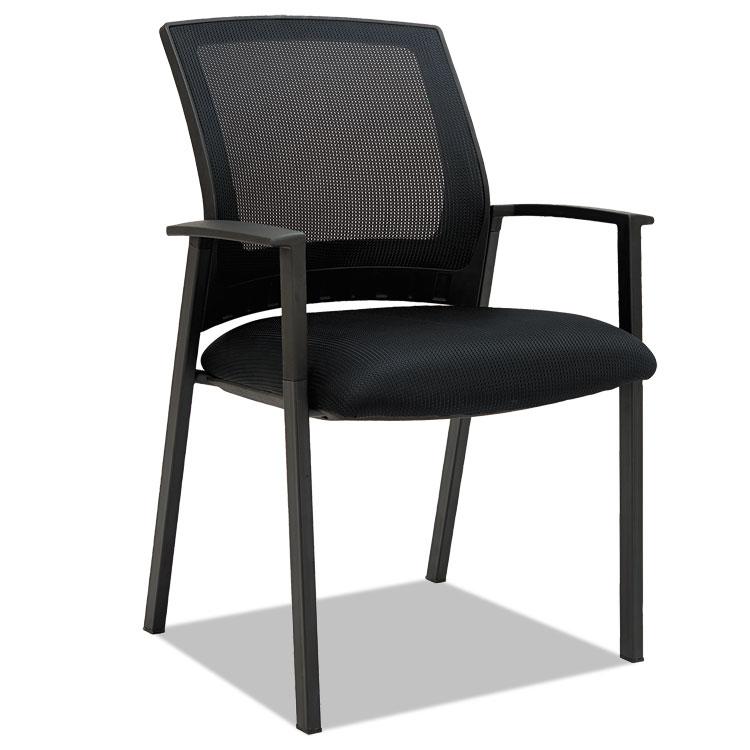 alera office chair desk home bargains alera® es series mesh stack chairs, black, 2 per carton – details