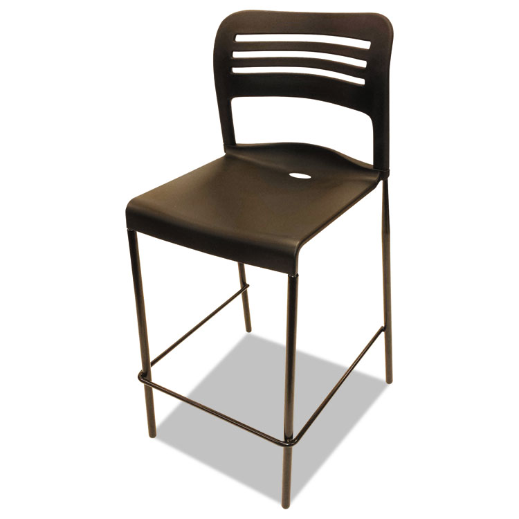 chair plus stool best beach with umbrella alera counter height stacking black 2 carton home chairs stools seating accessories