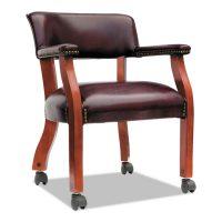 Alera Reception Lounge Series Guest Chair MahoganyBlack