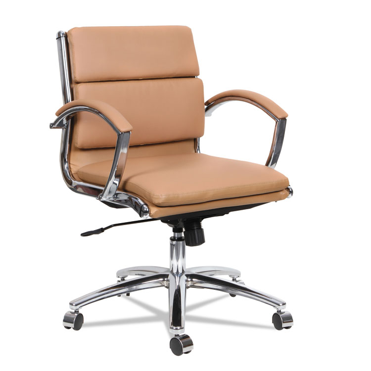 leather chrome chair white bean bag alera neratoli low back slim profile camel soft home chairs stools seating accessories