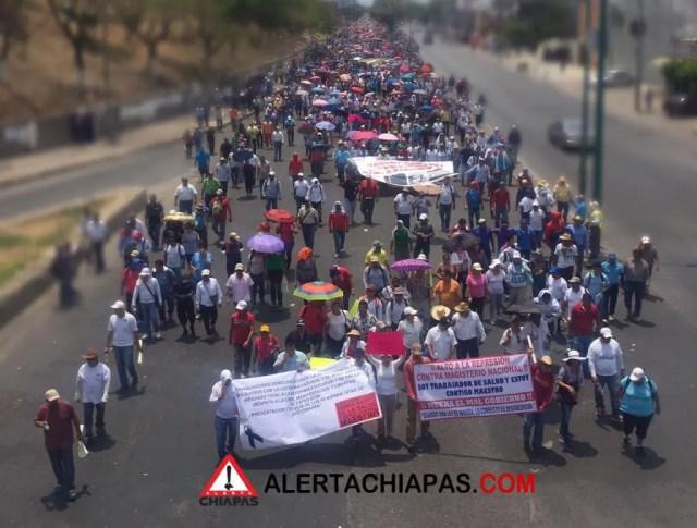 Marcha del 22 de abril del 2016 en Tuxtla Gutiérrez