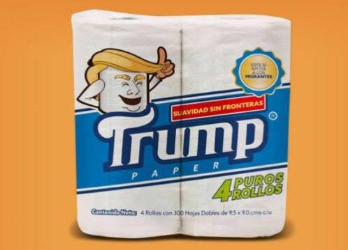 ¿Conoces el papel higiénico 'Trump'? Su venta apoyará a los migrantes