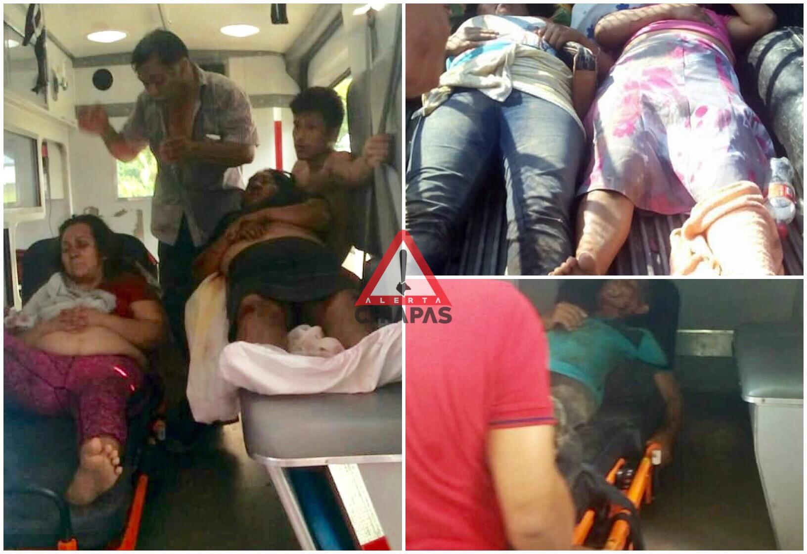 Volcadura de camión deja 9 heridos en Chiapas