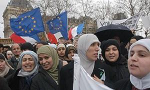 Musulmanas en Francia.