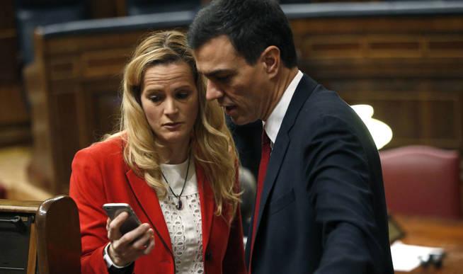 Zaida Cantera y Pedro Sánchez.