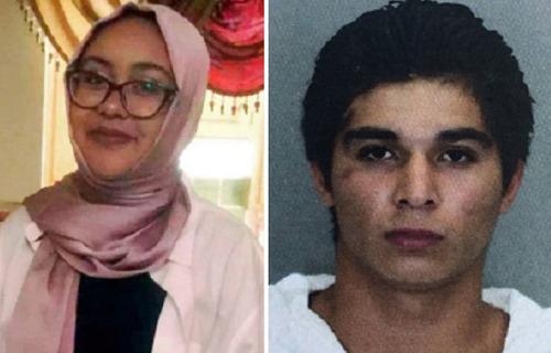A la izquierda, la malograda Nabra Hassanen; a la derecha, su asesino, el inmigrante ilegal salvadoreño Darwin Martínez Torres.