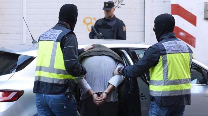 Detención de un yihadista en Valladolid en 2016.