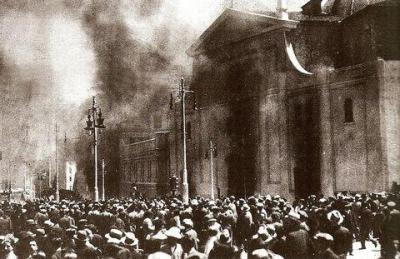 Quema de iglesias durante la Segunda República
