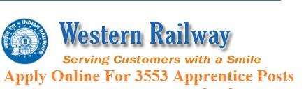 Western Railway Apply Online For 3553 Apprentice Posts