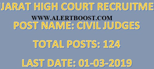 Gujarat High Court Recruitment : Apply Online For Civil Judges Posts