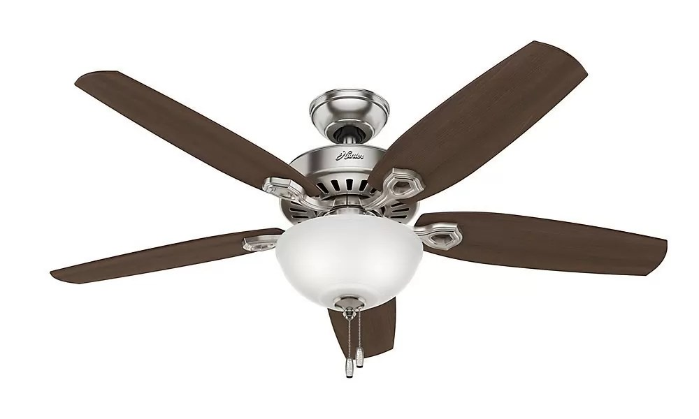 Hunter Ceiling Fans – Expert's Reviewed Hunter 53090 Builder Deluxe 5-Blade Single Light Ceiling Fan