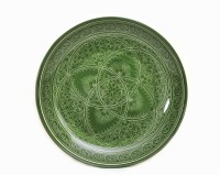 Green Rishtan ceramic plate