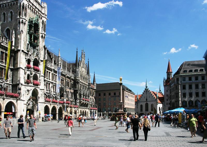 Marienplatz-in-Munich-Germany