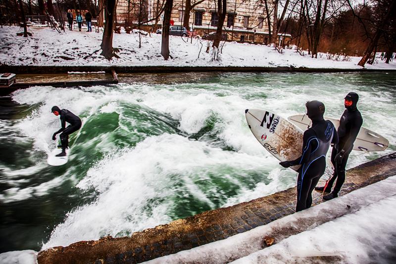 zimowo surfing