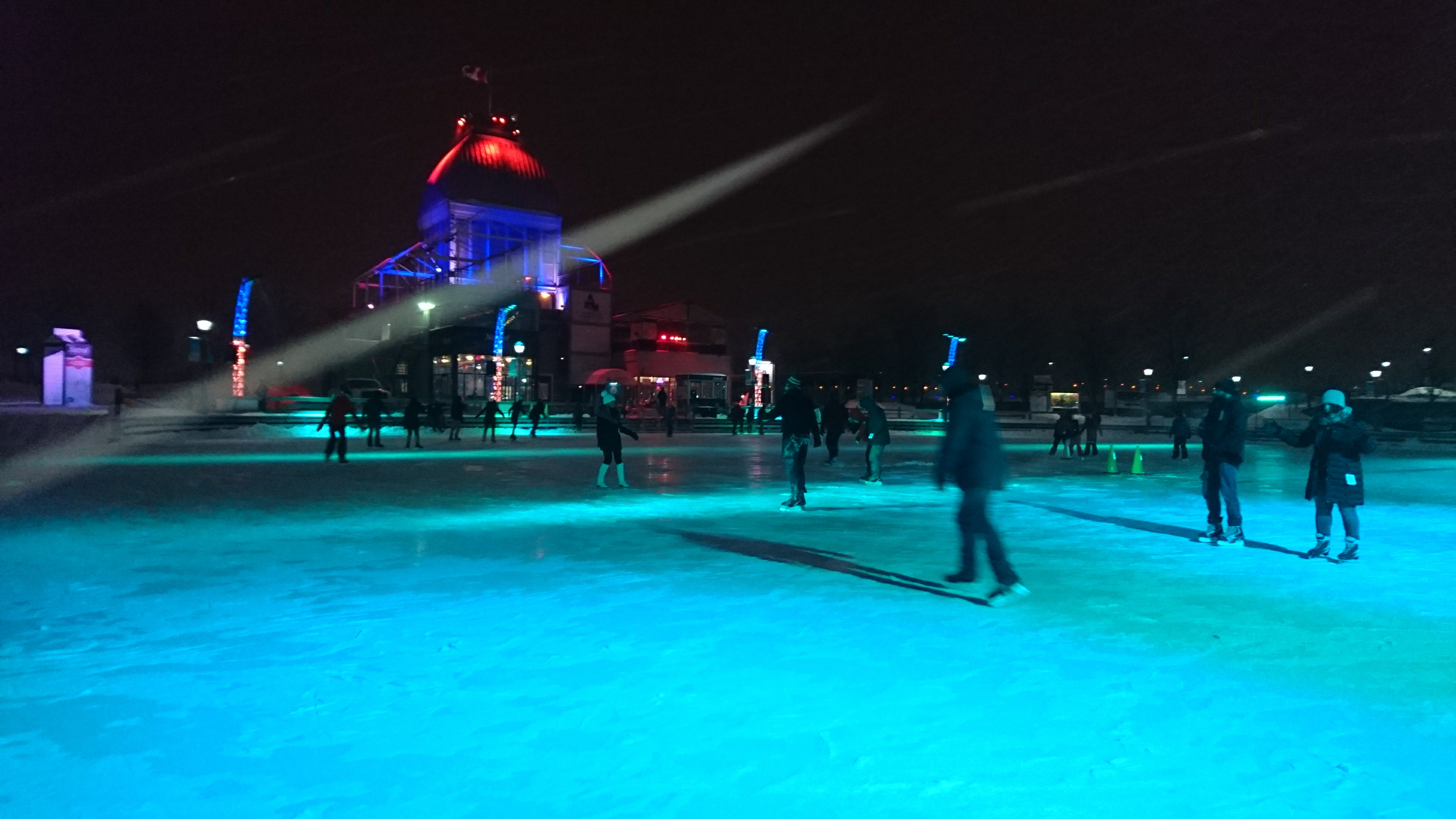 Ice Skating in Montreal Vieux Port