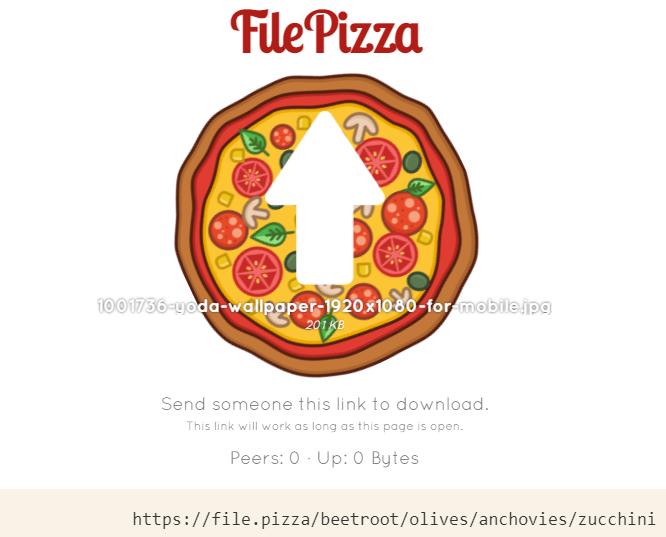 come inviare file di grandi dimensioni file.pizza