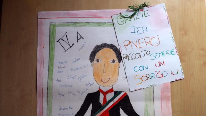 Disegno degli alunni al Sindaco