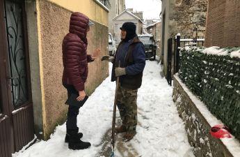 Sindaco sulla neve