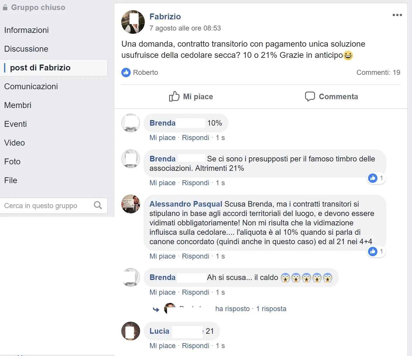 Cedolare Secca Nei Contratti Transitori 10 O 21 Il